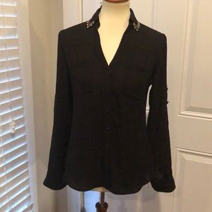 XS NWT express blouse with jeweled collar